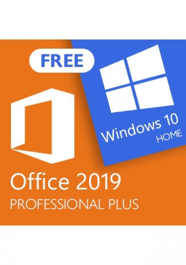 Microsoft Office 2019 Professional Plus (+Windows 10 Home for free)