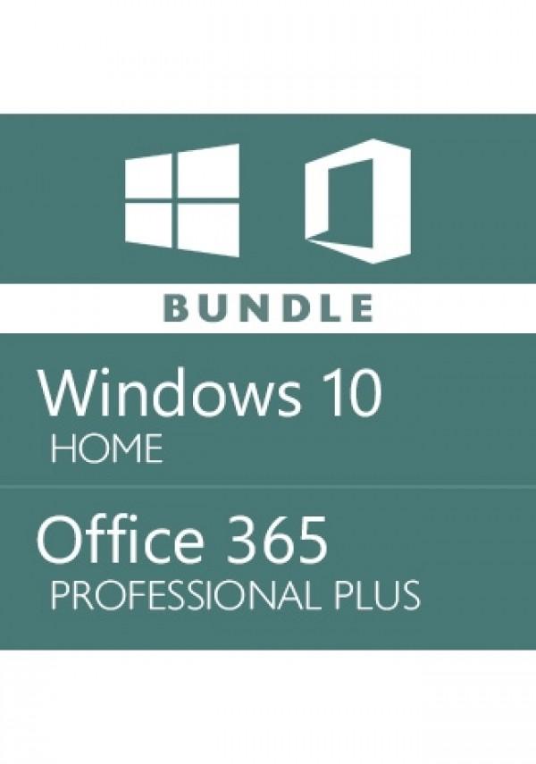 Windows 10 Home + Office 365 Pro Plus Account -Bundle