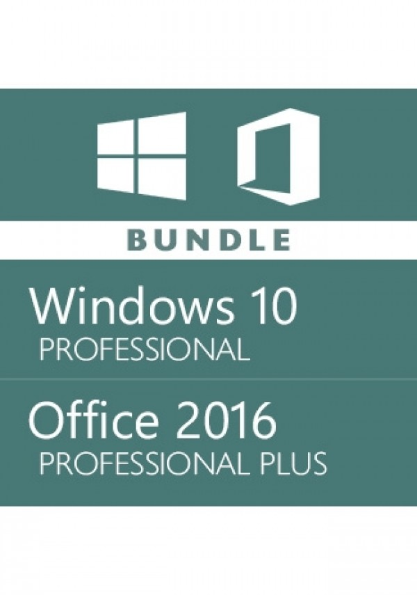 Windows 10 Pro + Office 2016 Pro -Bundle